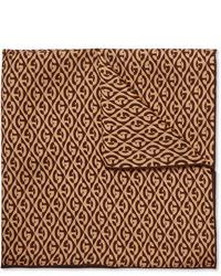 Pañuelo de bolsillo estampado marrón de Gucci