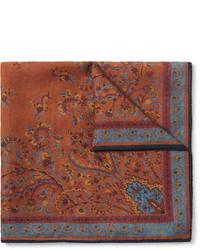 Pañuelo de bolsillo estampado marrón