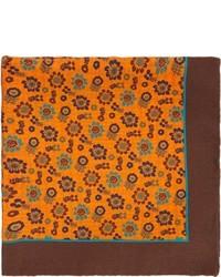 Pañuelo de bolsillo estampado naranja