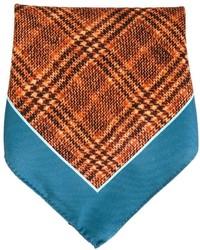 Pañuelo de bolsillo estampado naranja de Kiton