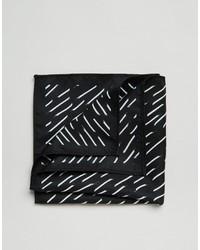 Pañuelo de bolsillo estampado negro de Asos