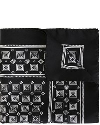 Pañuelo de bolsillo estampado negro de Dolce & Gabbana