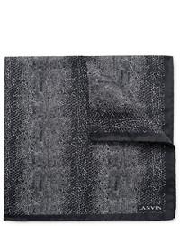 Pañuelo de bolsillo estampado negro de Lanvin