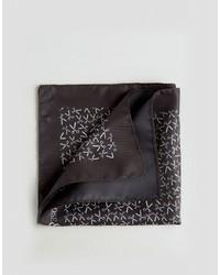 Pañuelo de bolsillo estampado negro