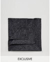 Pañuelo de bolsillo estampado negro de Reclaimed Vintage