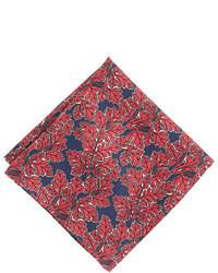 Pañuelo de bolsillo estampado rojo
