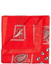 Pañuelo de bolsillo estampado rojo de Asos