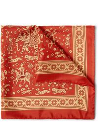 Pañuelo de bolsillo estampado rojo de Drakes