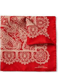 Pañuelo de bolsillo estampado rojo de Turnbull & Asser