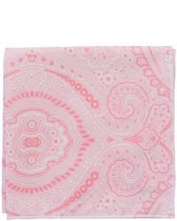 Pañuelo de bolsillo estampado rosado
