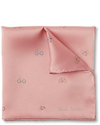 Pañuelo de bolsillo estampado rosado de Paul Smith