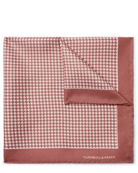 Pañuelo de bolsillo estampado rosado de Turnbull & Asser