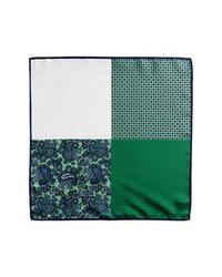 Pañuelo de bolsillo estampado verde oscuro