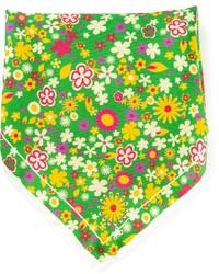 Pañuelo de bolsillo estampado verde de fe-fe
