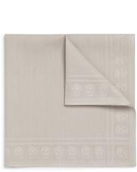 Pañuelo de bolsillo gris de Alexander McQueen
