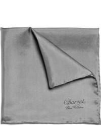 Pañuelo de bolsillo gris de Charvet