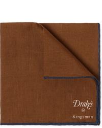 Pañuelo de bolsillo marrón de Kingsman