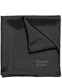 Pañuelo de bolsillo negro de Charvet