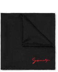 Pañuelo de bolsillo negro de Givenchy