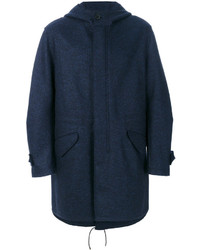 Parka de lana azul marino