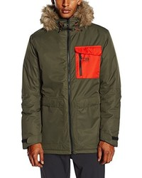 Parka verde oliva de Jack and Jones Tech