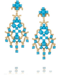 Pendientes azules de Valentino