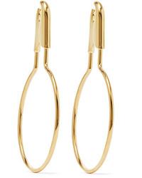 Pendientes dorados de Balenciaga