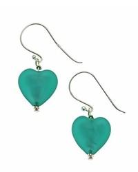 Pendientes en verde azulado de Amanti Venezia