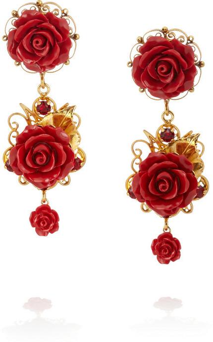 bienes de conveniencia seleccione para el despacho grandes ofertas Pendientes rojos de Dolce & Gabbana