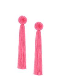 Pendientes rosa de Yuliya Magdych