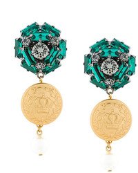 Pendientes Verde Oliva de Dolce & Gabbana