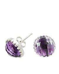 Pendientes violeta claro de Dower & Hall