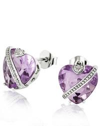 Pendientes violeta claro de goldmaid