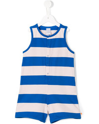 Peto de rayas horizontales en blanco y azul