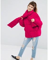 Plumífero rosa de Asos