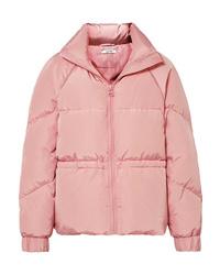 Plumífero rosado de Ganni