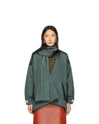 Plumífero verde oscuro de Gucci