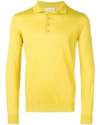 Polo de manga larga amarillo de Laneus