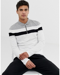 Polo de manga larga blanco de ASOS DESIGN