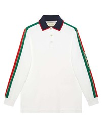 Polo de manga larga blanco de Gucci