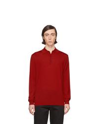 Polo de manga larga de lana rojo de Lanvin