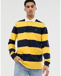 Polo de manga larga de rayas horizontales amarillo de Polo Ralph Lauren