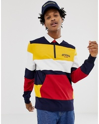Polo de manga larga de rayas horizontales en multicolor de Billionaire Boys Club