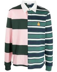 Polo de manga larga de rayas horizontales en multicolor de Lanvin
