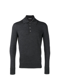 Polo de manga larga en gris oscuro de Tom Ford