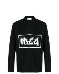 Polo de manga larga estampado negro de McQ Alexander McQueen