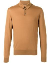 Polo de manga larga marrón claro de Dolce & Gabbana