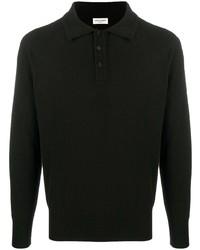 Polo de manga larga negro de Saint Laurent