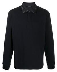 Polo de manga larga negro de Valentino