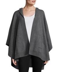 Poncho de lana en gris oscuro